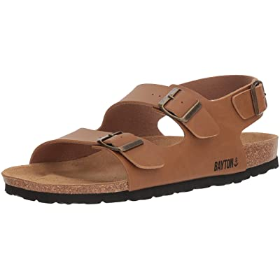BAYTON Men's ACHILLE Sandal, Camel, 42 Medium EU (9 US) | Sandals