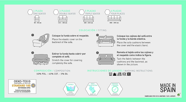 Bartali Funda de sillón elástica Olivia - Color Negro - Tamaño 1 ...