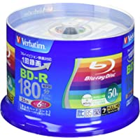 Verbatim Blu Ray 25 Gb Bd-r Single Layer 6x Speed Spindle Printable Blueray (50)