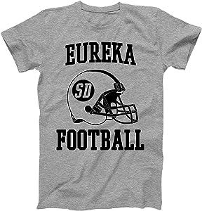 Vintage Football City Eureka Shirt for State South Dakota with SD on Retro Helmet Style