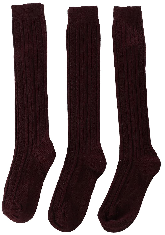 Jefferies Socks Big Girls Cable-Knit Knee-High Sock Three-Pack