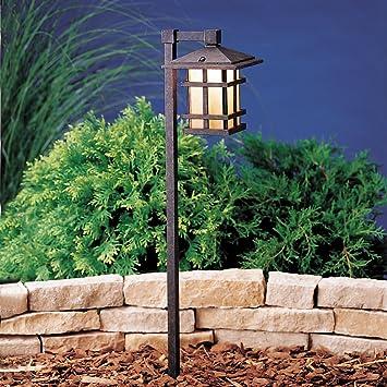 Kichler Lighting 15232AGZ Cross Creek 1 Light 120 Volt Path U0026 Spread Light,