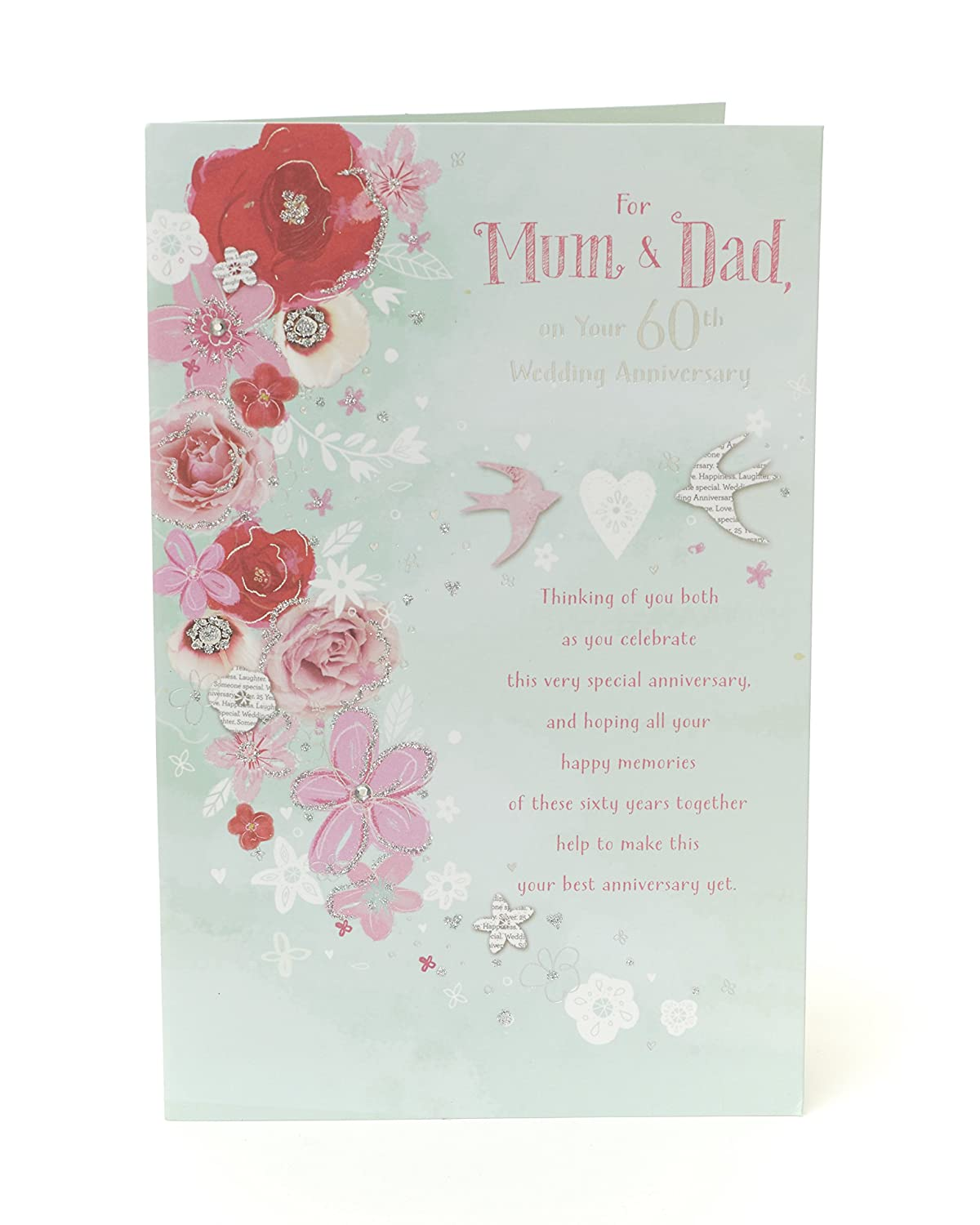 Congratulations On Your 70th Wedding Anniversary Card Platinum