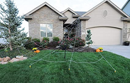 mega spider web outdoor halloween decoration terrify your neighbors by funworld