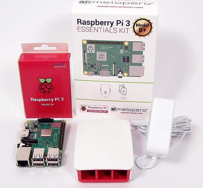 Melopero Raspberry Pi 3 Modelo B + Kit esencial oficial Blanco: Amazon.es: Electrónica