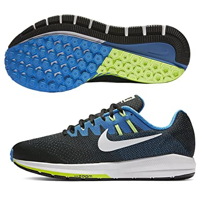 uk availability d56c2 ad43d Amazon.com   Nike Men s Air Zoom Structure 20 Running Shoe (10 D(M) US,  Black White-Photo Blue)   Road Running