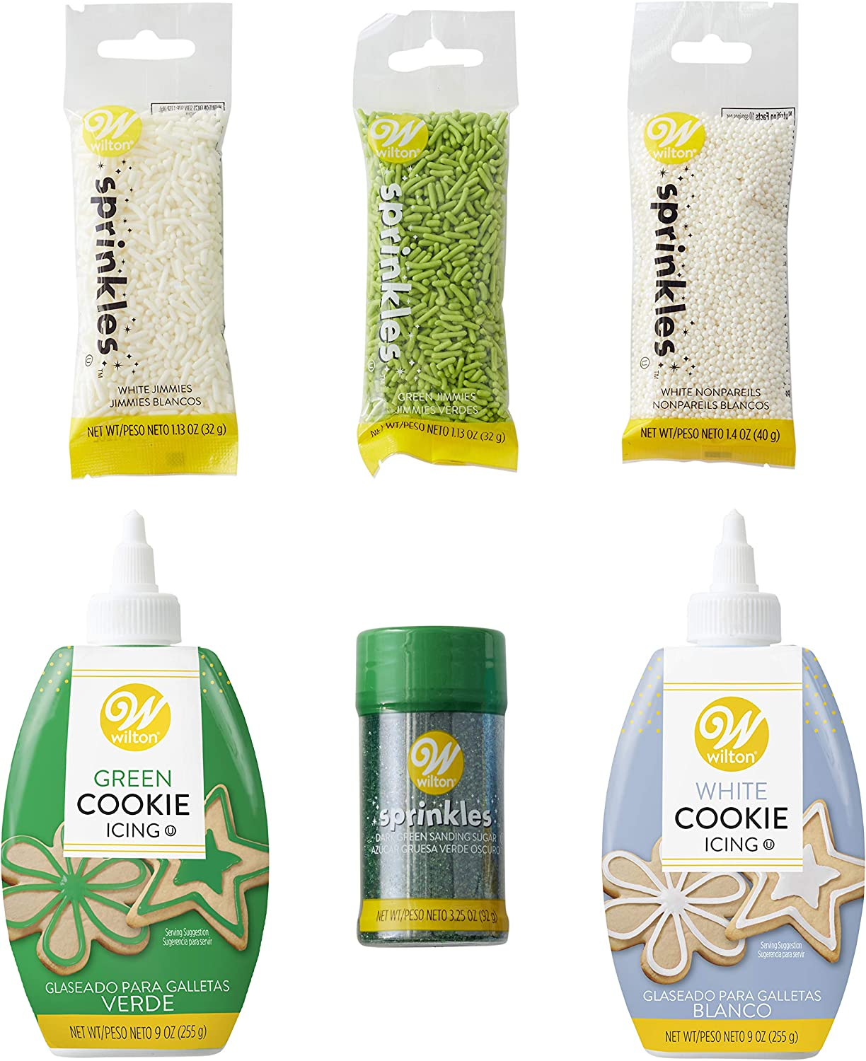Wilton Green and White Cookie Decorating Set, 6-Piece