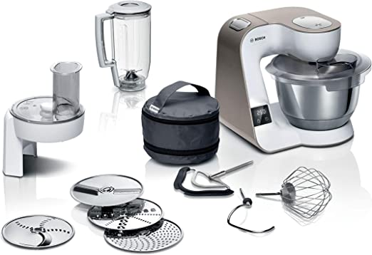 Bosch Hausgeräte MUM 5 Robot de cocina, Color blanco y champán: Amazon.es: Hogar