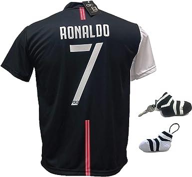 Camiseta oficial del Cristiano Ronaldo CR7 Musut 2019-2020, tallas de niño y adulto con firma impresa Limited Edition y llavero blanco, S (Adulto): Amazon.es: Deportes y aire libre