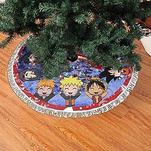 Aoxinquji Anime Naruto One Piece Inuyasha Christmas Tree Skirt Decor 36