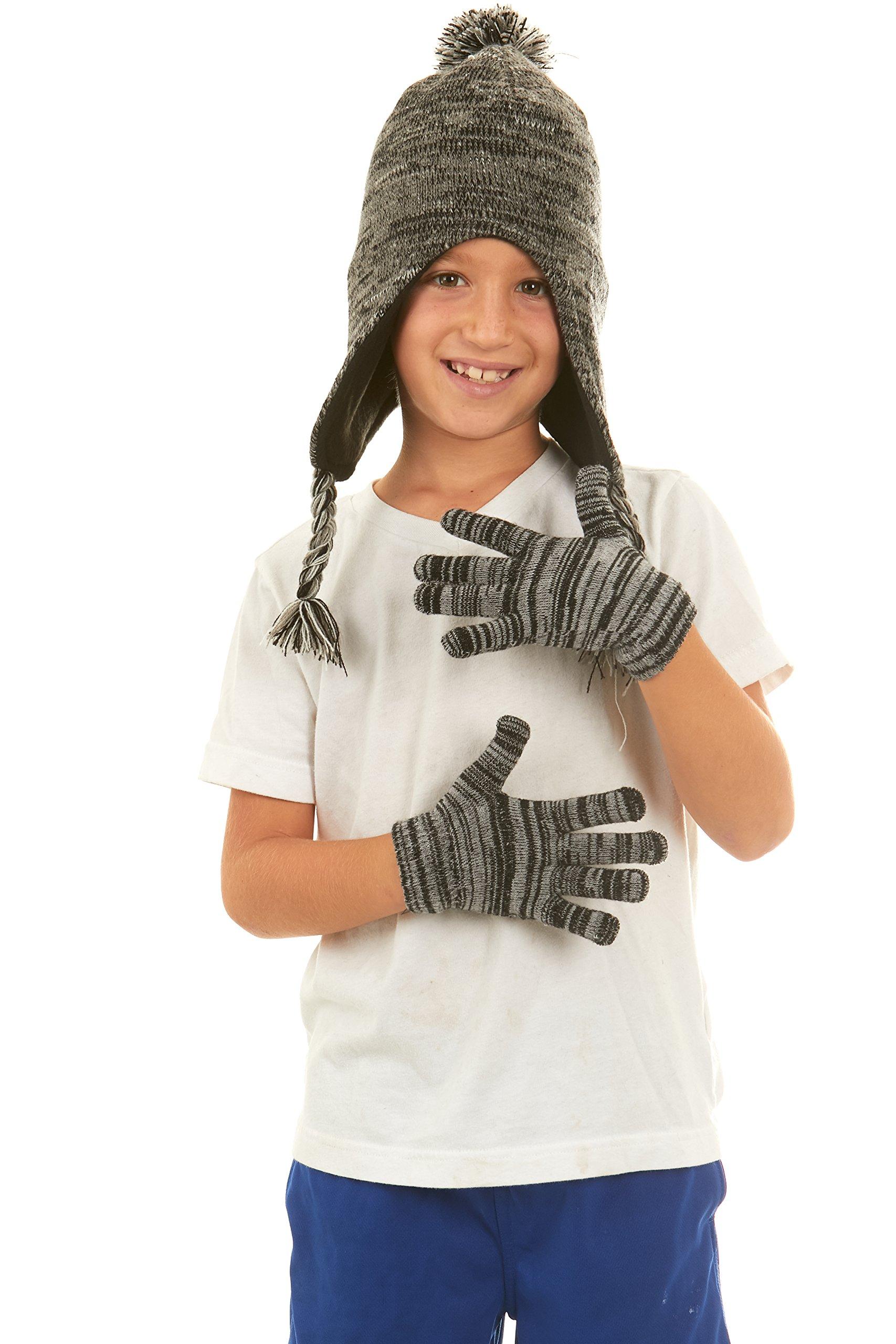 Polar Wear Boys Knit Winter Peruvian Ear Flaps