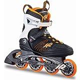 K2 Damen Inline Skates Alexis 80, ABEC 5 Kugellager 80mm Rollen 80A Softboot, Orange-weiß-Schwarz, 30A0104.1.1