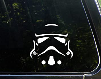 Amazoncom Storm Trooper X Vinyl Die Cut Decal Bumper - Die cut window decals