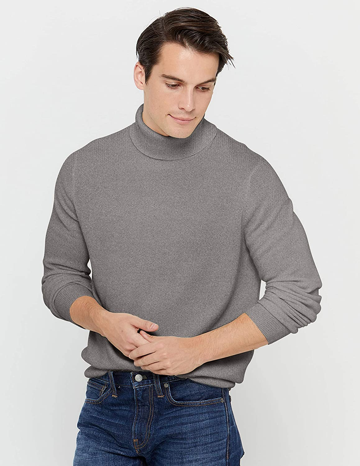 State cashmere men's turtleneck sweater, 100% pure cashmere