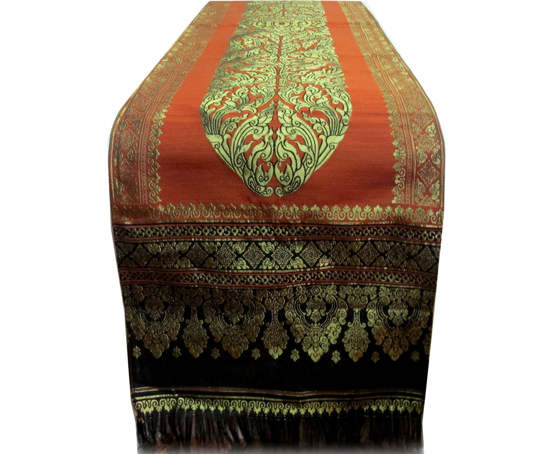 NICE THAI SILK TABLE/BED RUNNER ON SELL WITH COMPLIMENTARY