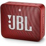 JBL GO 2 - Altavoz portátil Bluetooth impermeable, Rojo