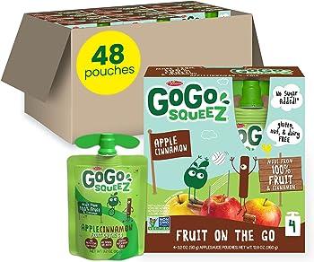 48-Count GoGo squeeZ Fruit on the Go 3.2oz Applesauce (Apple Cinnamon)