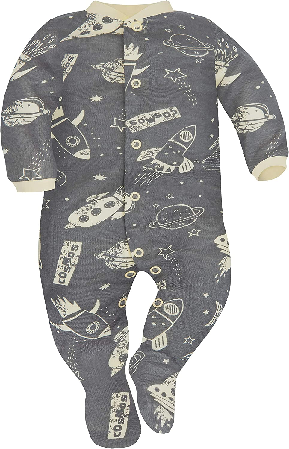 Sizes 0-9 Months Pack of 2 SIBINULO Baby Boys Baby Girls Sleepsuit with Feet Mix