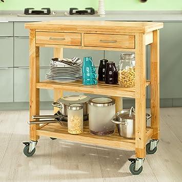 Amazon.Com - Haotian Kitchen Trolley, Kitchen Cart, Kitchen Island