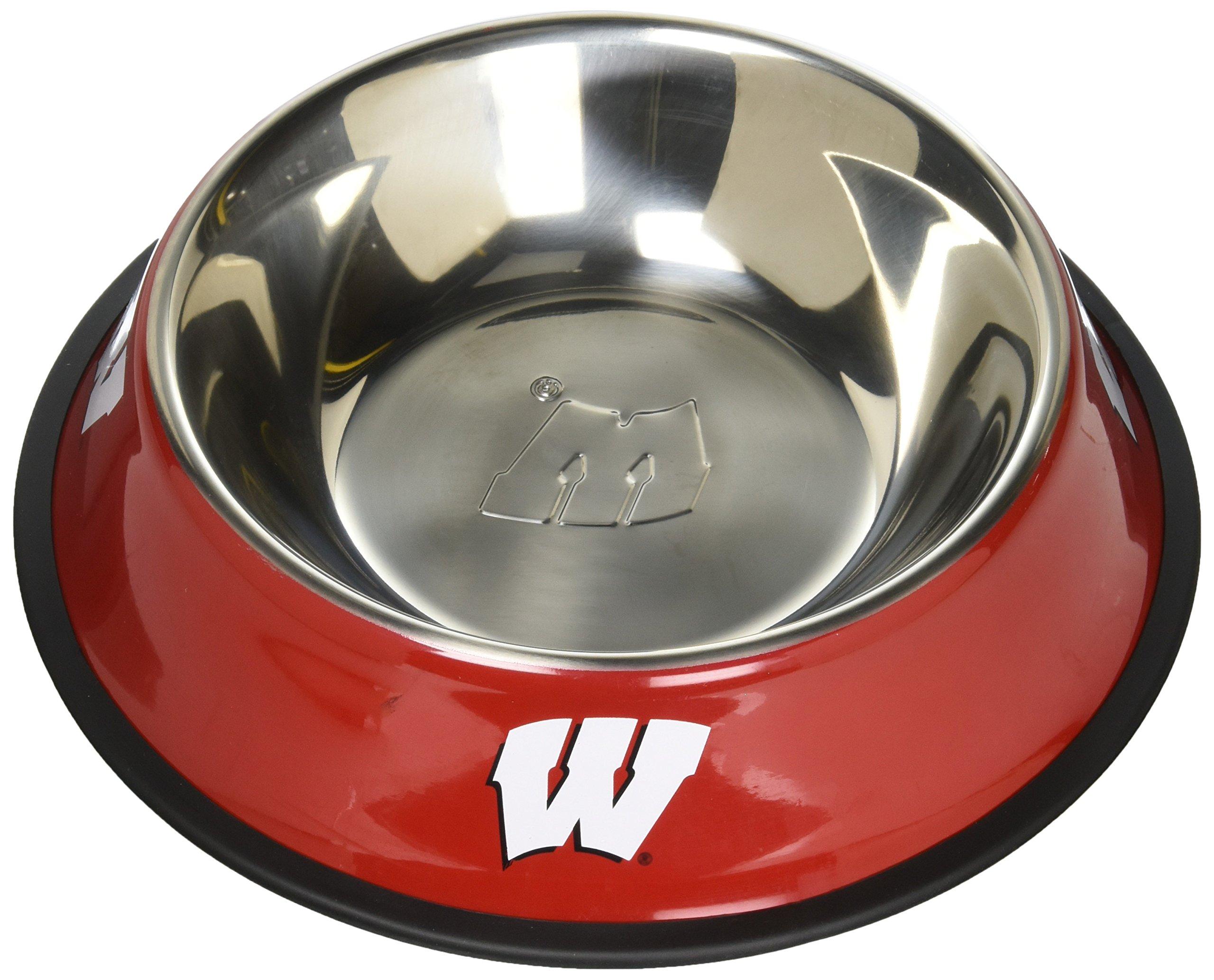 Pet Goods NCAA Wisconsin Badgers Stainless Steel Bowl