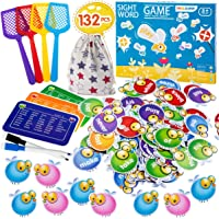 Sight Word Games Educational Toy Sight Word Swat Game for Kindergarten Homeschoo for Kids Ages 4-8, Visual, Tactile and…