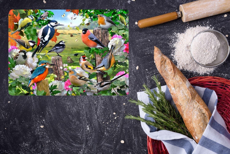 Textured British Birds Tuftop 40cm x 30cm Medium Work Top Saver