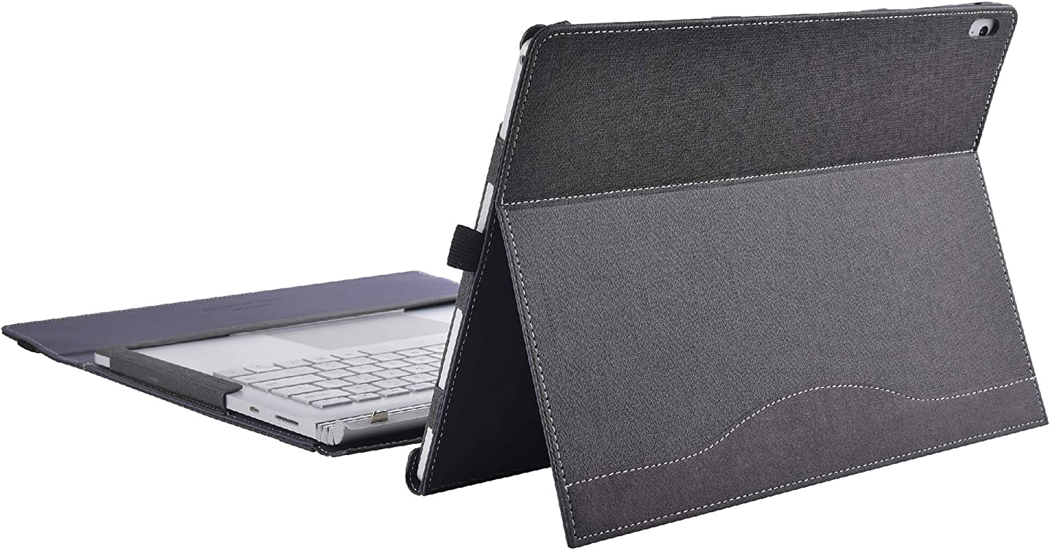 Laptop Cover Case for Microsoft Surface Book 3 15 inch/Surface Book 2 15 inch (with Bracket, Grey)