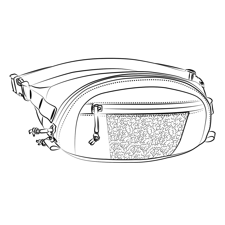 Helikon Bandicoot Waist Pack Ombre Gris/Noir