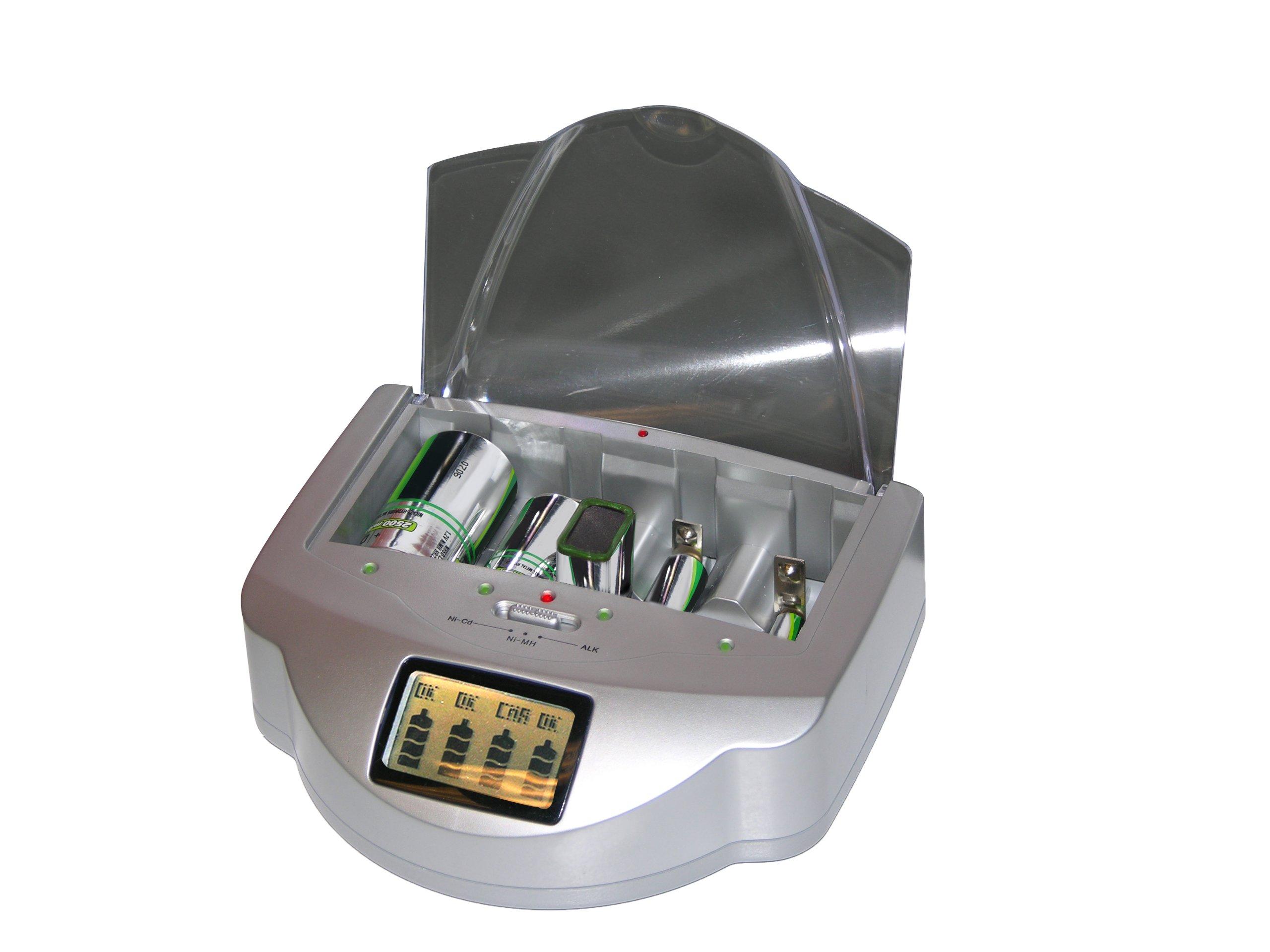 Viatek RE02G Renu-It Pro Series GrayProfessional Grad Disposable Battery Regenerator/Used for AA, AAA, C, D & 9-Volt Batteries