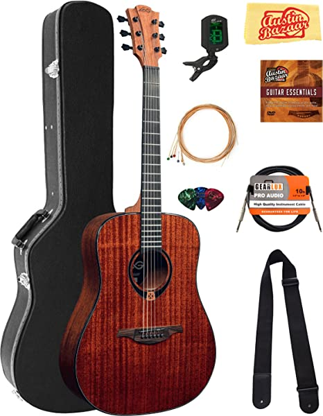 Lag T90D Tramontana Dreadnought Guitarra Acústica Paquete con ...