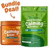 Zesty Paws Calming Soft Chews & Dental Sticks Bundle - Stress & Anxiety Relief for Dogs - Dog Tartar Teeth Cleaning & Breath Freshener - Calm Composure for Fireworks, Thunderstorms & Barking