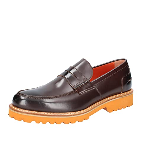 DI MELLA - Mocasines de Piel para hombre Marrón Size: 42.5: Amazon.es: Zapatos y complementos