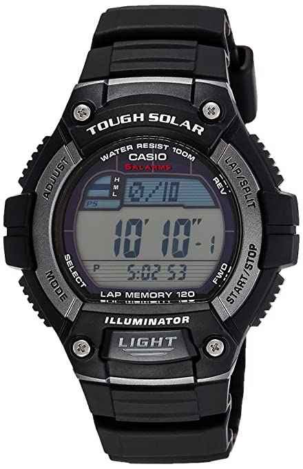 Casio Tough Solar - Reloj Deportivo (51.7 x 49.8 x 14.6 mm, 46 g, Negro, Resina): Casio: Amazon.es: Relojes