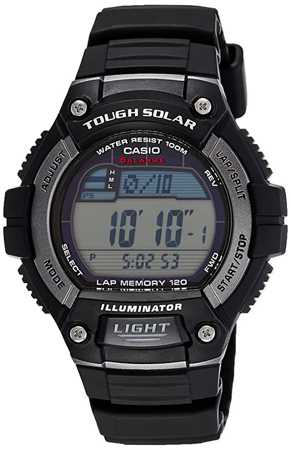 2f6671c50 Amazon.com: Casio Men's WS220-1A Tough Solar Digital Sport Watch: Casio:  Watches