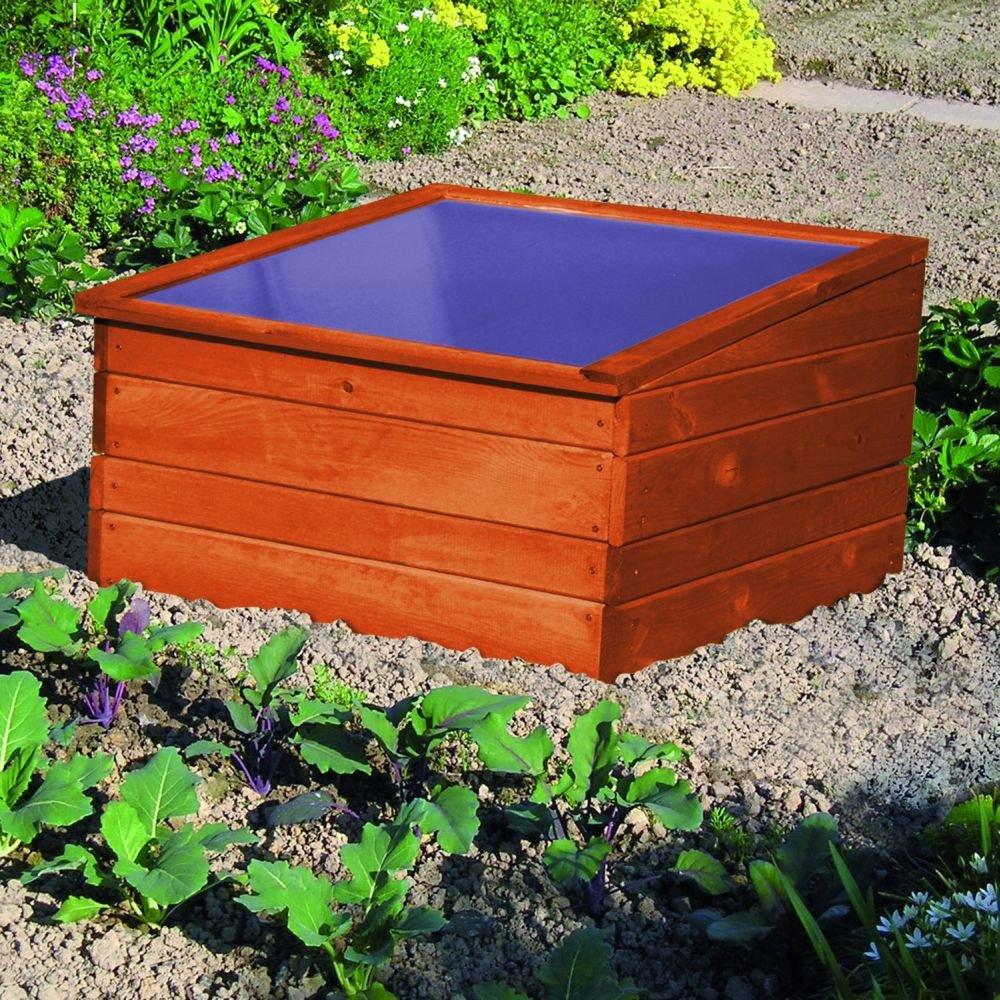 Einzel-Frühbeet Anzuchtbeet Holz imprägniert inkl. Unterkasten Garten