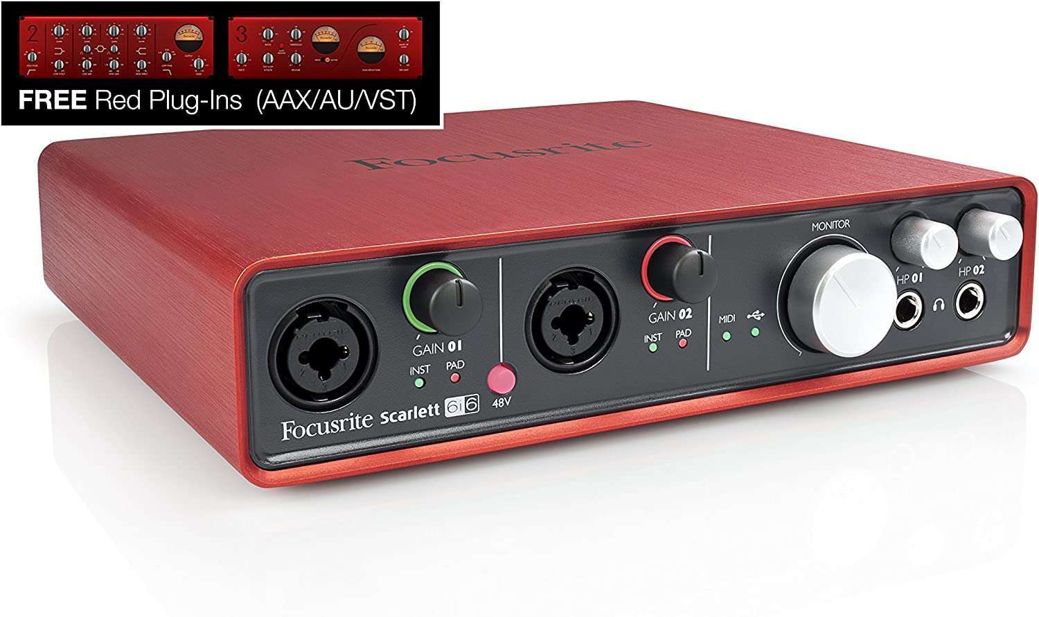 Amazon.com: Interfaz de audio Focusrite Scarlett 6i6 de 6 ...