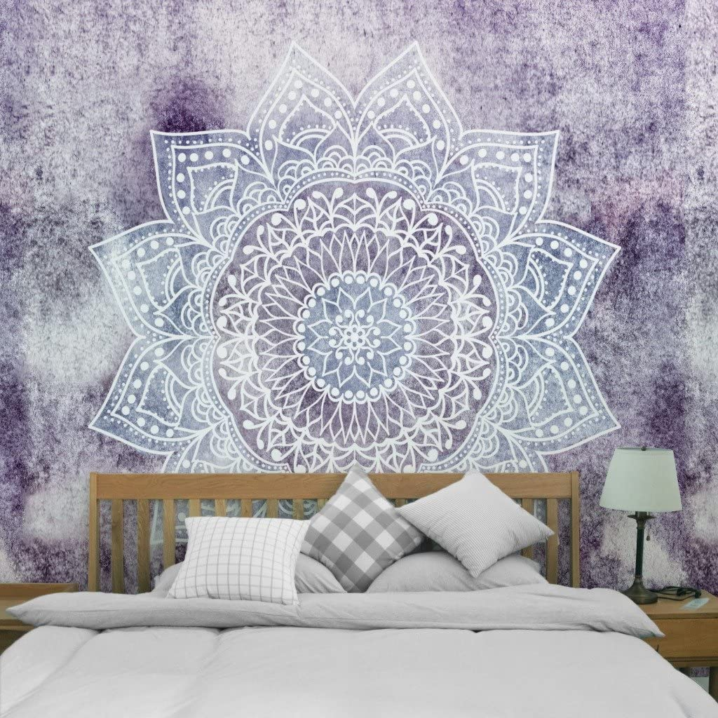 1,150X100cm Hippie Bohemian Flower Psychedelic Wall Hanging Decor for Living Room Bedroom Dorm Mandala Tapestry