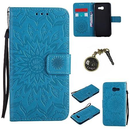 für Smartphone Samsung Galaxy A5 2017 Hülle, Leder Tasche für Samsung Galaxy A5 2017 Flip Cover Handyhülle Bookstyle mit Magn
