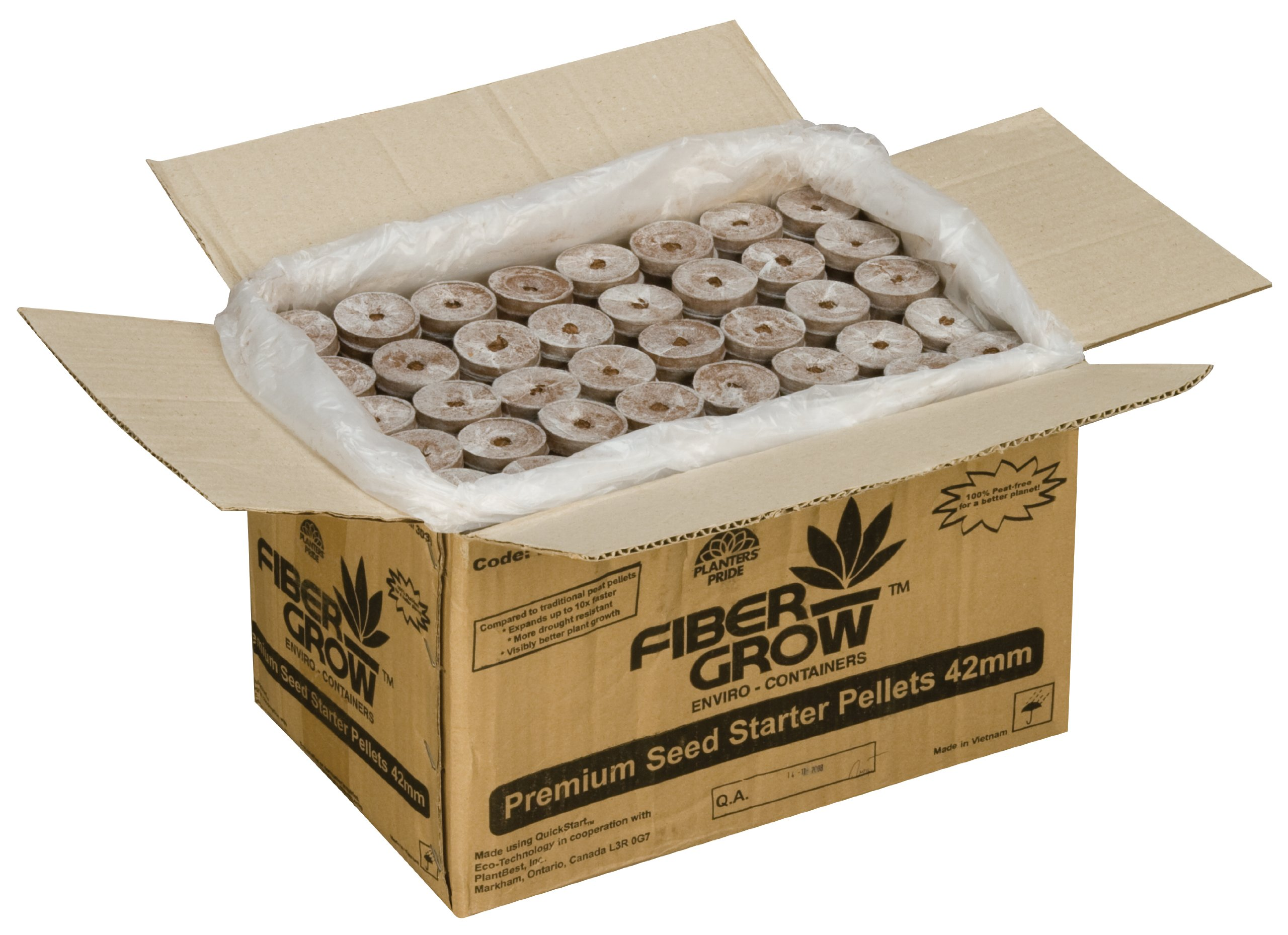 Planters' Pride CRP042F0 Fiber Grow Coconut Coir Refill, 1000 Pellets by Myers