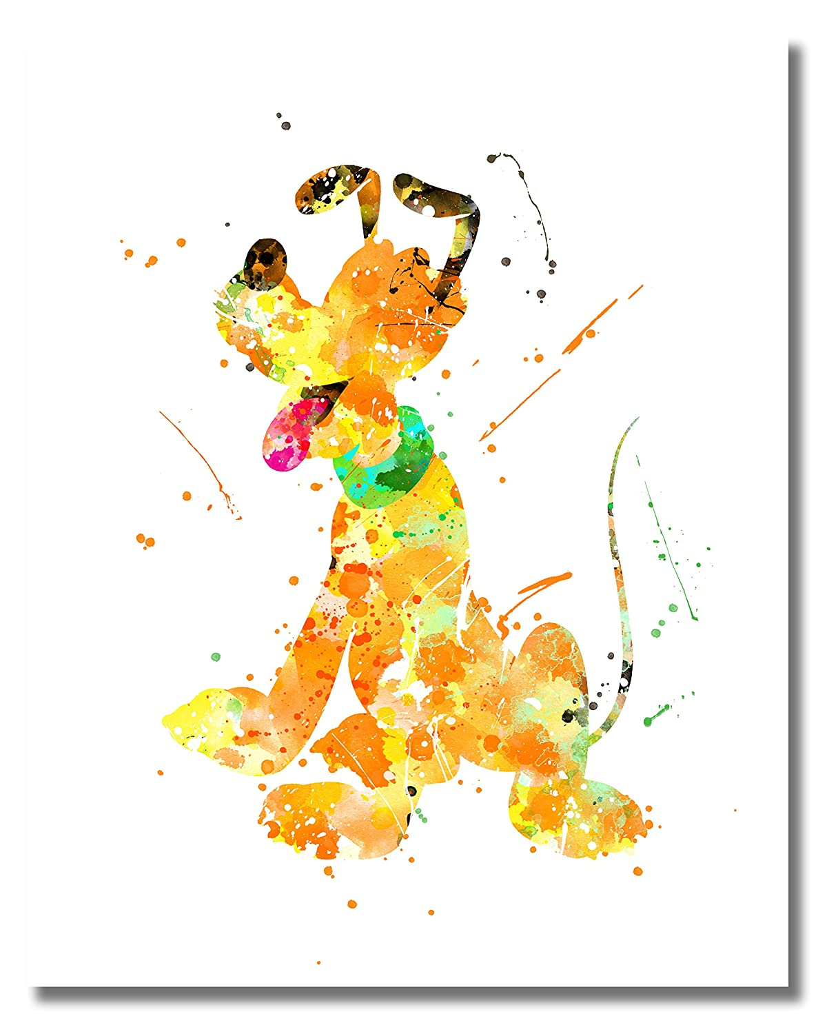 Amazon.com: Mickey Mouse Wall Art Watercolor Poster Prints - Set of ...