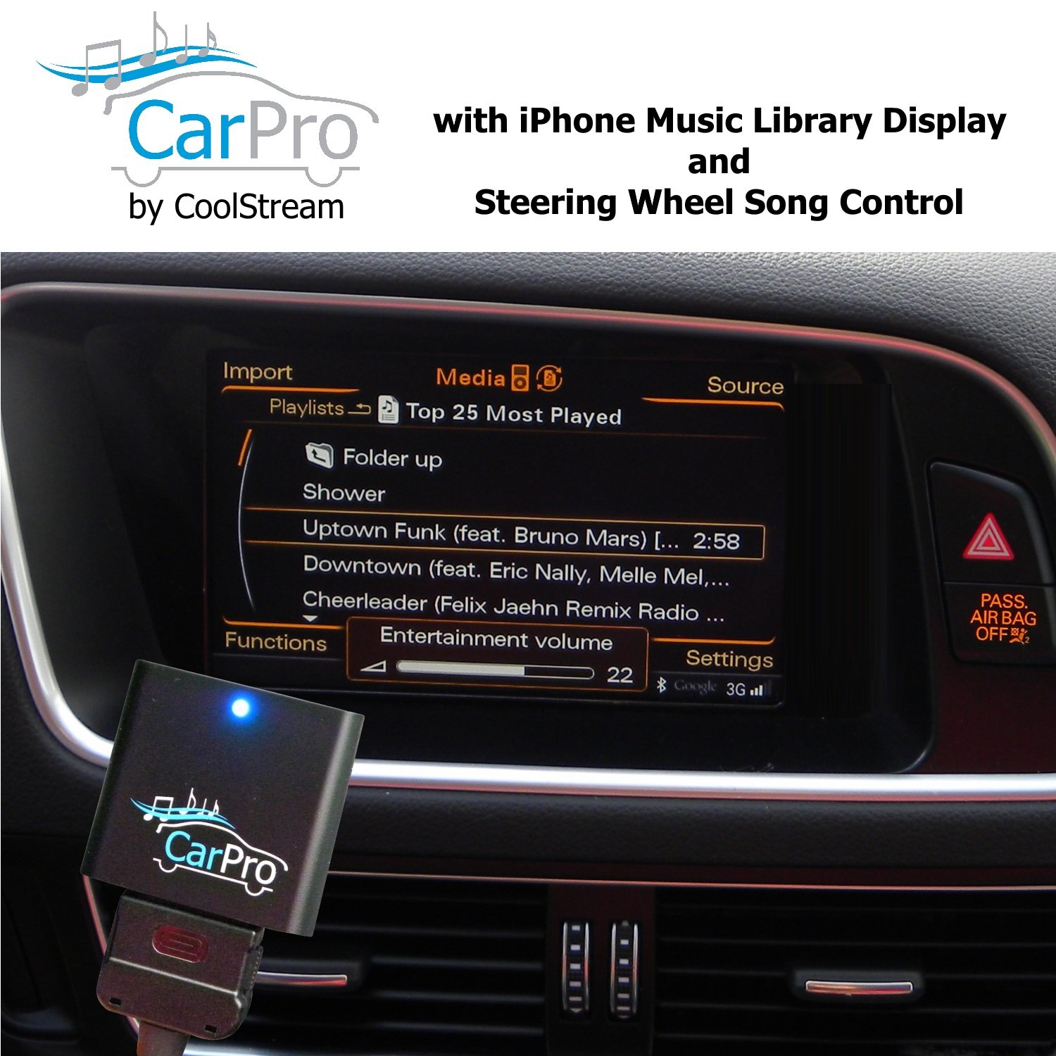 CoolStream Bluetooth Adapter 2011 Earlier Mercedes iPod iPhone 30 Pin Cable CarPro