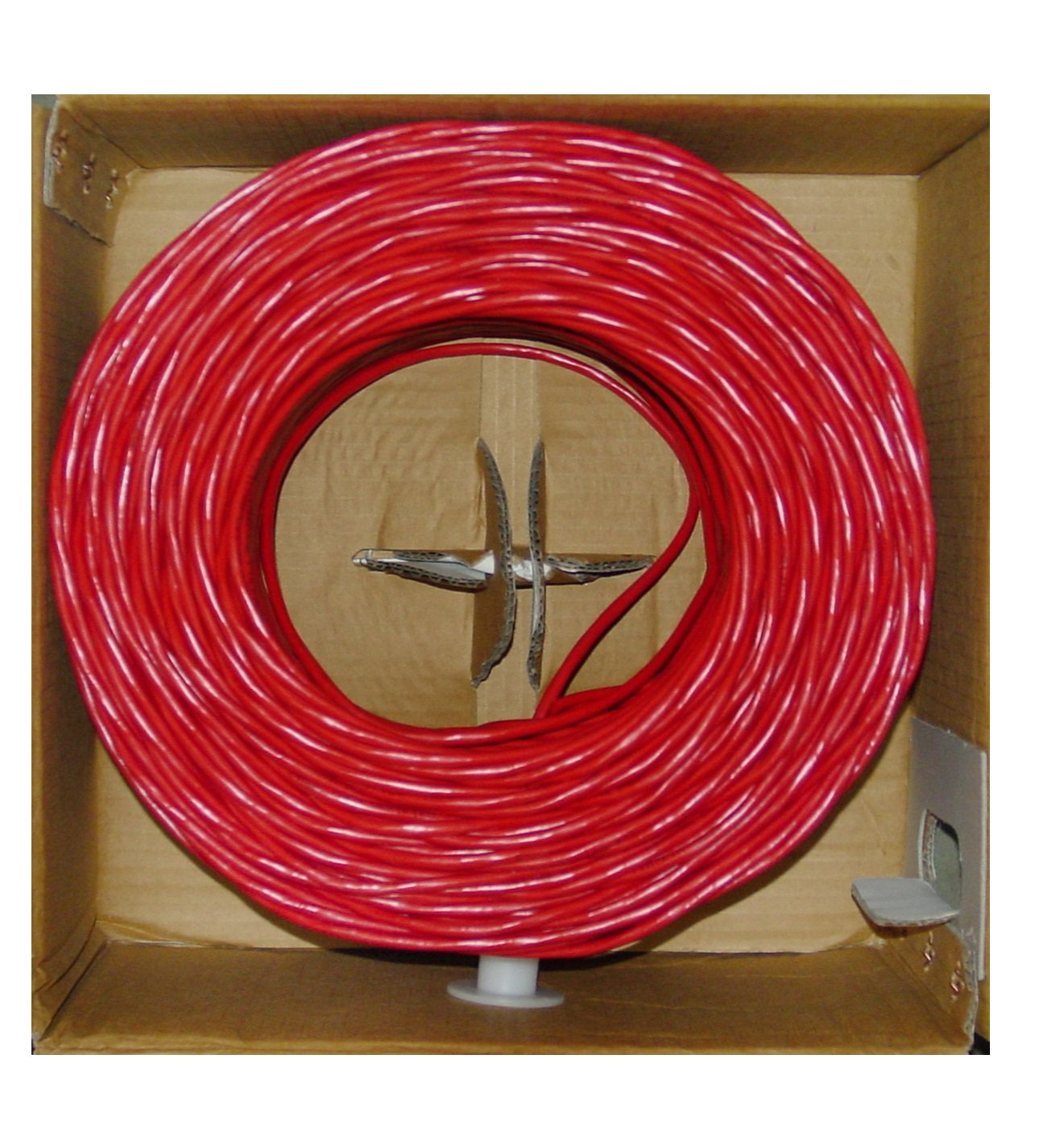 Amazon.com: Aurum Cables CAT6 - 24 AWG - 500 ft Red Ethernet Network Cable - Copper Clad Aluminum (CCA) - With Crimp Tool - 550 Mhz - UTP - Pull Out box ...