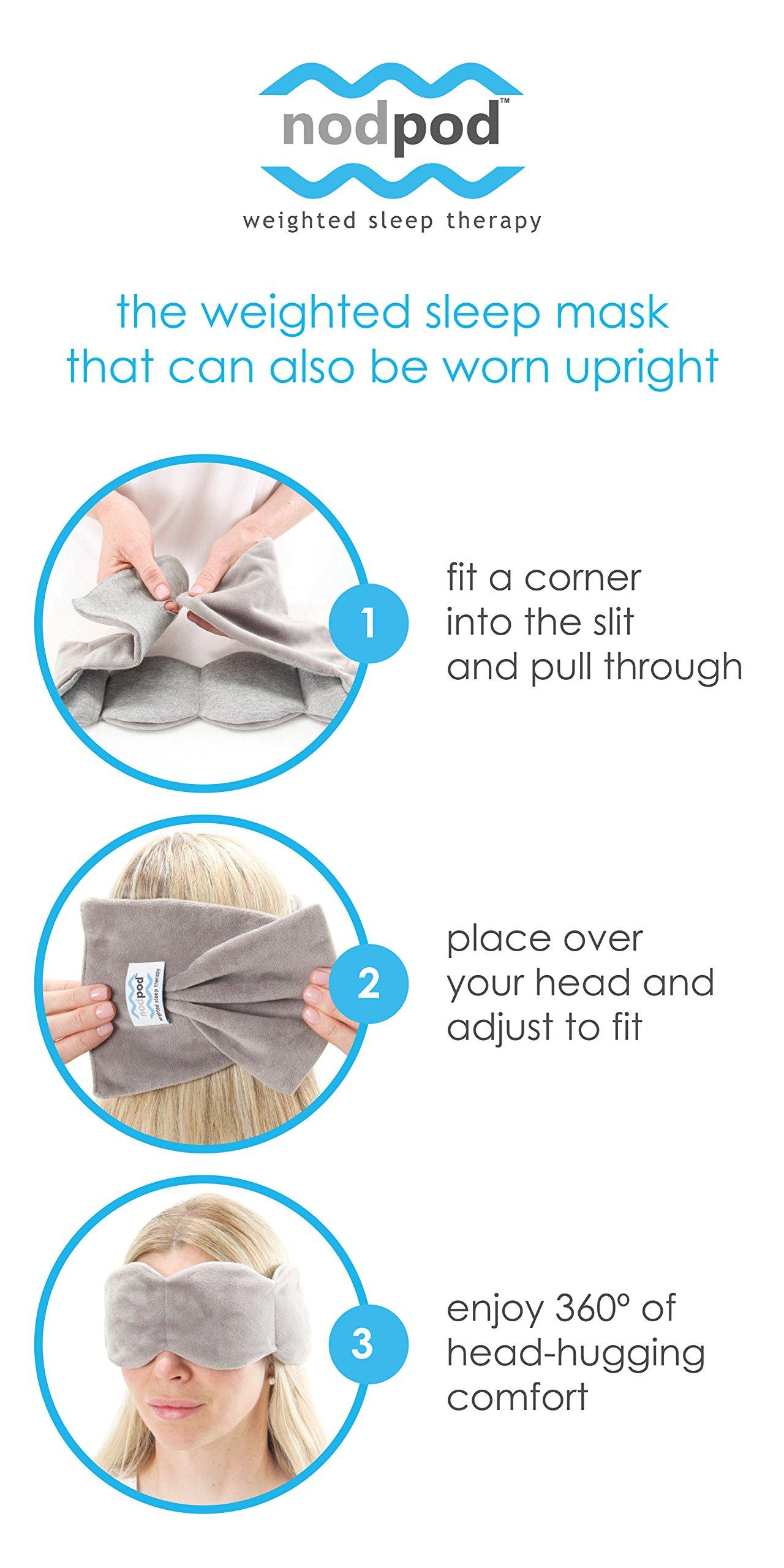 nodpod : microbead weighted sleep mask, gentle pressure = better sleep by nodpod (Image #4)