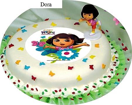 Decoración para tartas Dora Cumpleaños Infantil 2 piezas ...