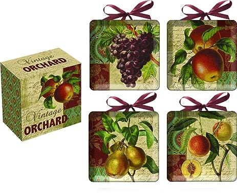 Vintage Orchard Ceramic Decorative Mini Plates Set of 4  sc 1 st  Amazon.com & Amazon.com: Vintage Orchard Ceramic Decorative Mini Plates Set of 4 ...