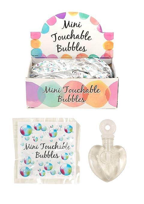 Pomperos mini para crear burbujas (forma de corazón, ideales para mesas de boda, 48 unidades)