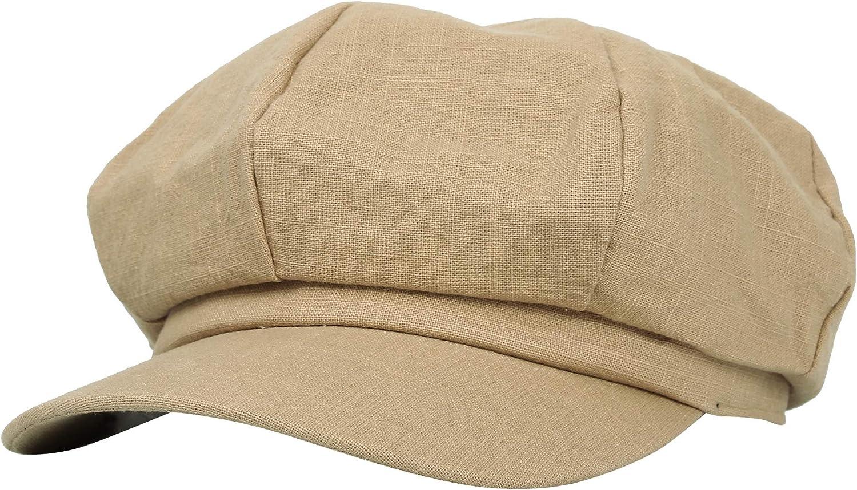 WITHMOONS Linen Newsboy Hat Applejack Gatsby Summer Ivy Cap KRG1162
