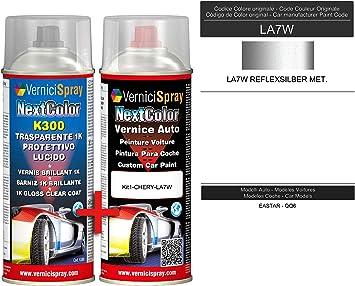 Kit Vernice Auto Spray LA7W REFLEXSILBER MET. e Trasparente Lucido