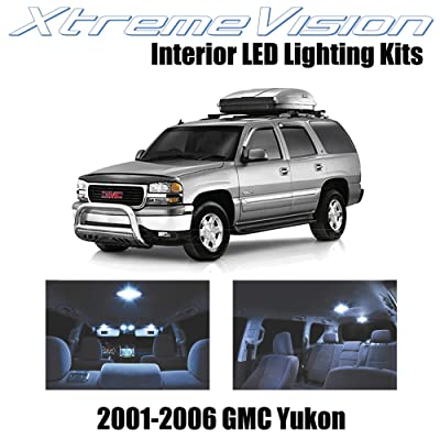 Xtremevision Interior LED for GMC Yukon 2001-2006 (18 Pieces) Cool White Interior LED Kit + Installation Tool: Automotive