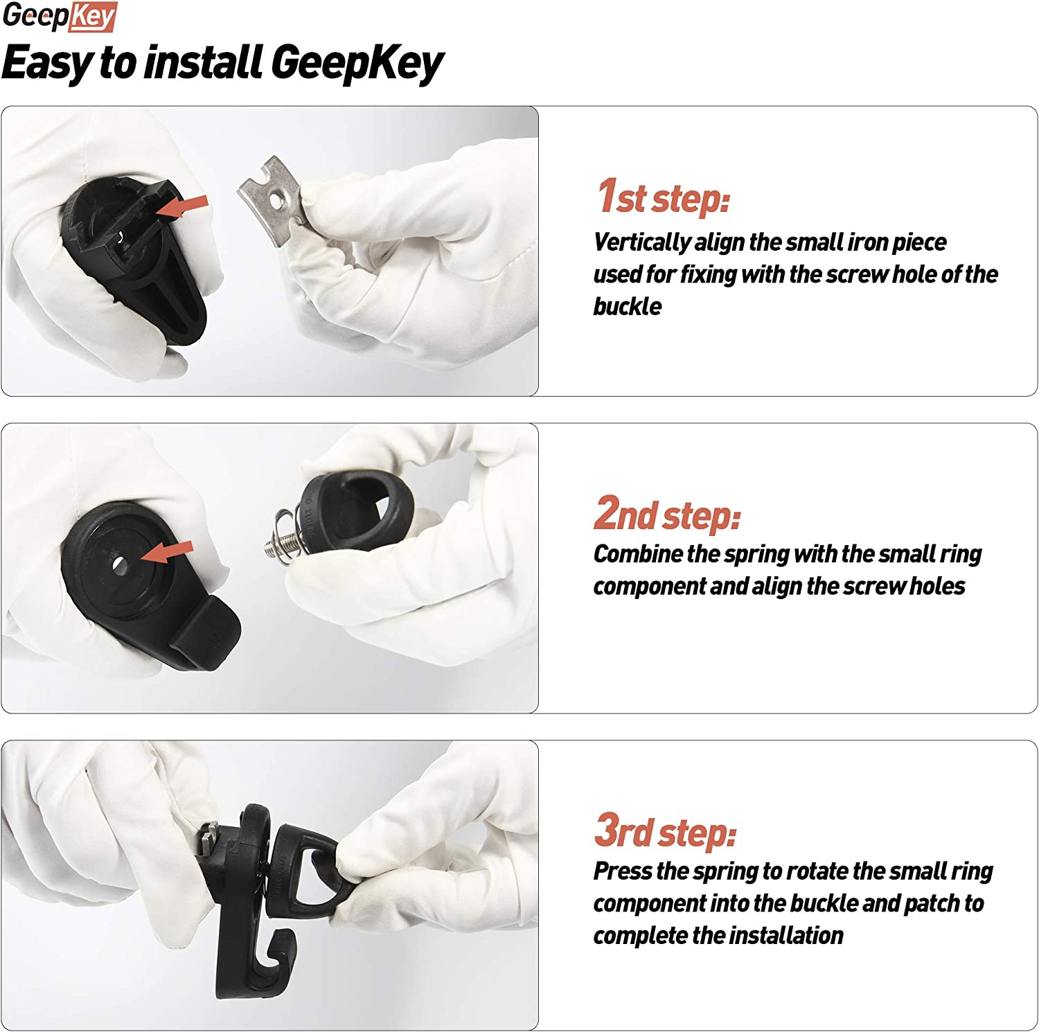 GeepKey Replacement for Mini Tie-Down with Hooks Fits Tacoma /& Tundra PT278-35075 4PCS